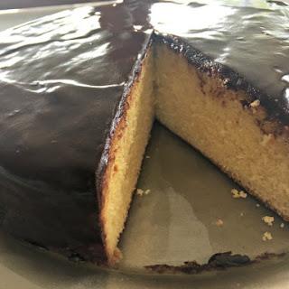 Orange Syrup Cake with Chocolate Ganache