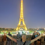 in front of the Eiffel Tower in Paris, Paris - Ile-de-France, France