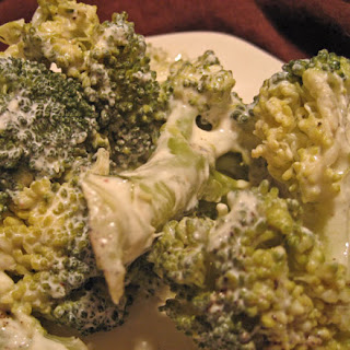 Broccoli with Yogurt Sauce.