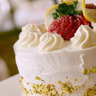 Strawberry and Cream Orange Liquor Layered Cake Recipe