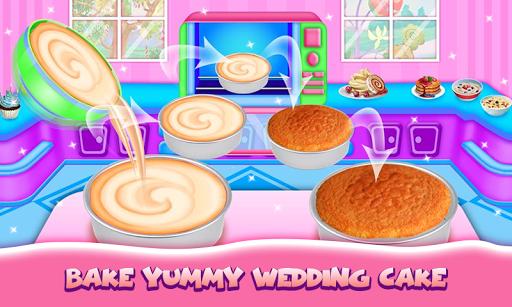 Wedding Cake Maker Girls Cooking Game apktram screenshots 3