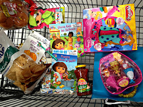 Photo: Here's my cart.  I picked up my #NickCFK book drive books, the princess brithday present, some items for my BBQ and a couple little things for Kayla.  That Lalaloopsy outfit was just $1 when normally they are $7 so I couldn't help but grab it.