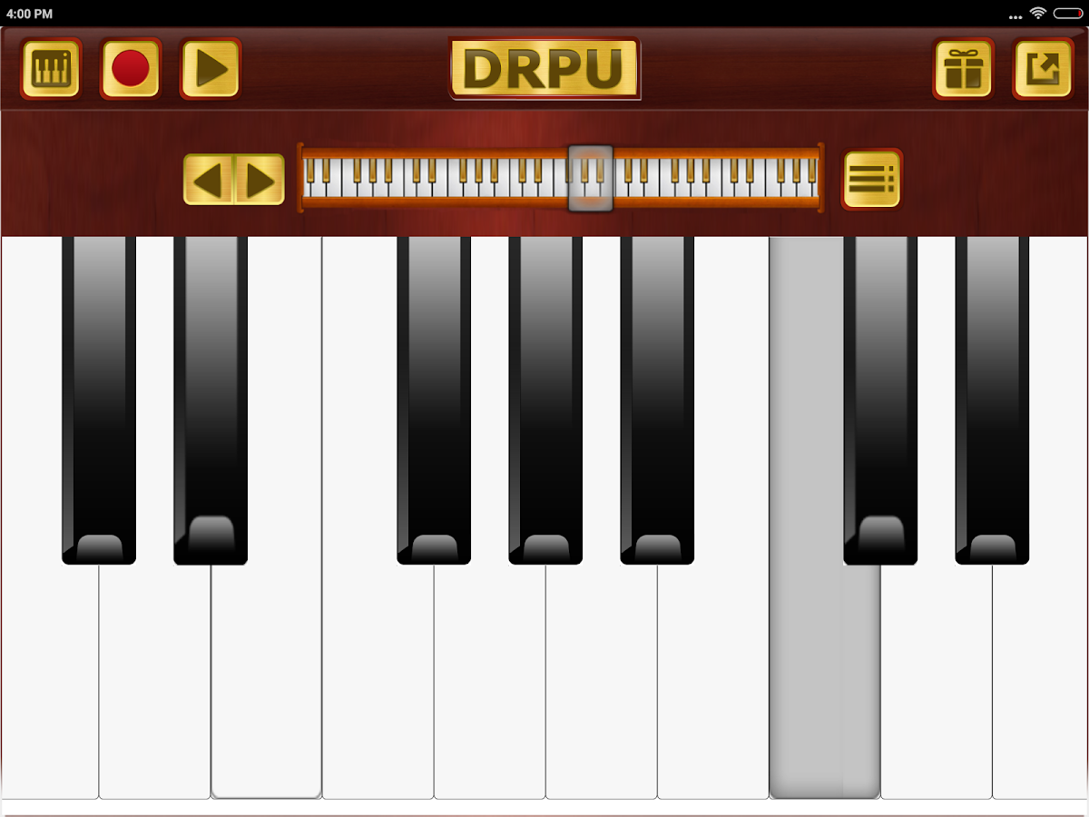 piano keyboard  clavis type