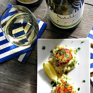 Garlic Butter Sea Scallops Appetizer.