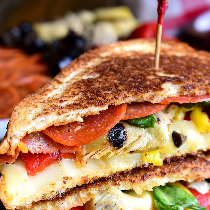 Italian Antipasto Grilled Cheese Sandwich Recipe