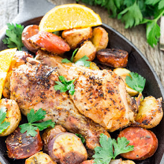 Spanish Chicken with Chorizo and Potatoes.