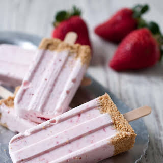 Strawberry Cheesecake Popsicles.