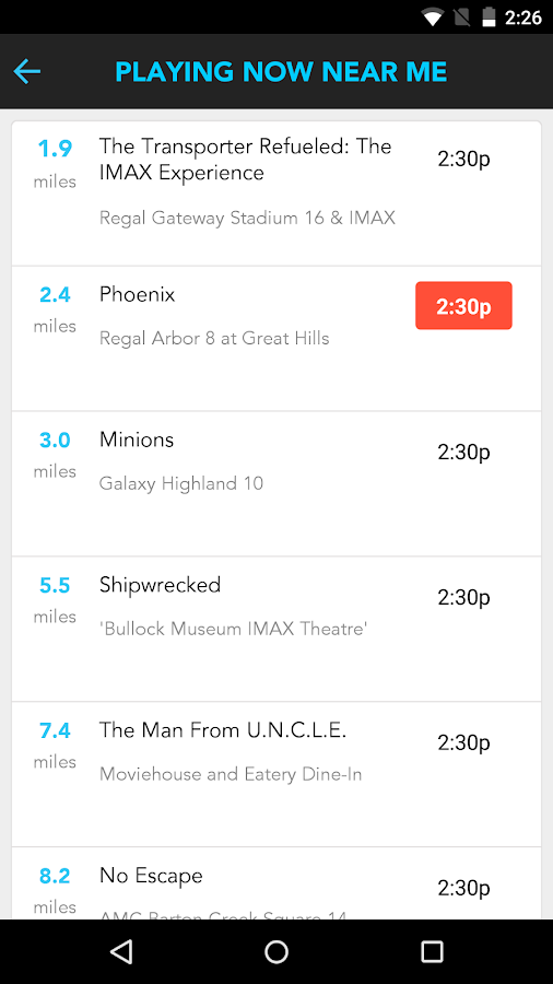 Moviefone - Movies & Showtimes- screenshot