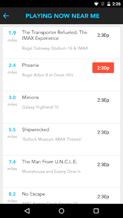 Moviefone - Movies & Showtimes 3.0.1 screenshot 81503
