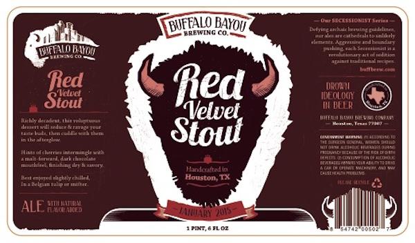 Logo of Buffalo Bayou Red Velvet Stout