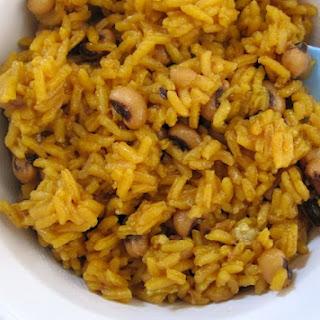 Arroz con Frijolito de Cabecita Negra (Blackeye Peas Rice)