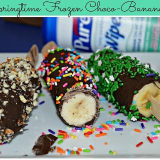 Springtime Frozen Choco-Bananas
