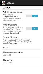 Photo Compress Pro 2.0 Screenshot