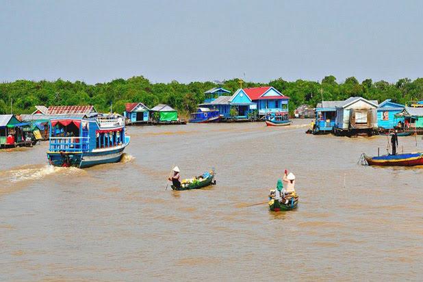 Balade en bateau sur le lac Tonle Sap