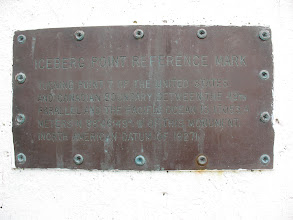 Photo: Day 2: US-Canadian boarder marker plaque.