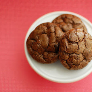 Salted Dark Chocolate Truffle Cookies