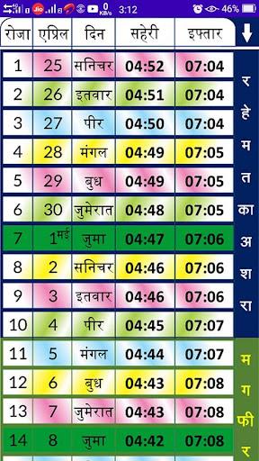 Mumbai Ramazan Time Table 2020 ss1