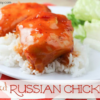 Four-Ingredient Baked Russian Chicken.