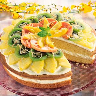 Cool Lime Colada Cake.