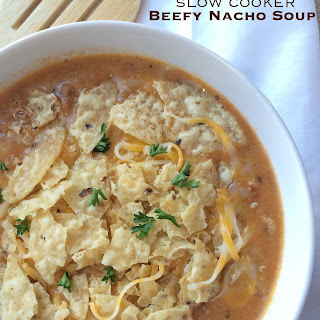 Slow Cooker Beefy Nacho Soup.