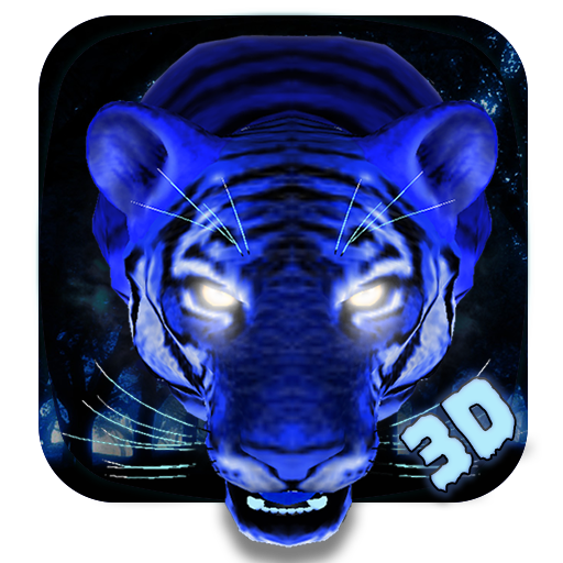 Ice Angry Tiger 3D Theme