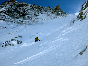 Photo: Pekka enjoying perfect steep skiing!