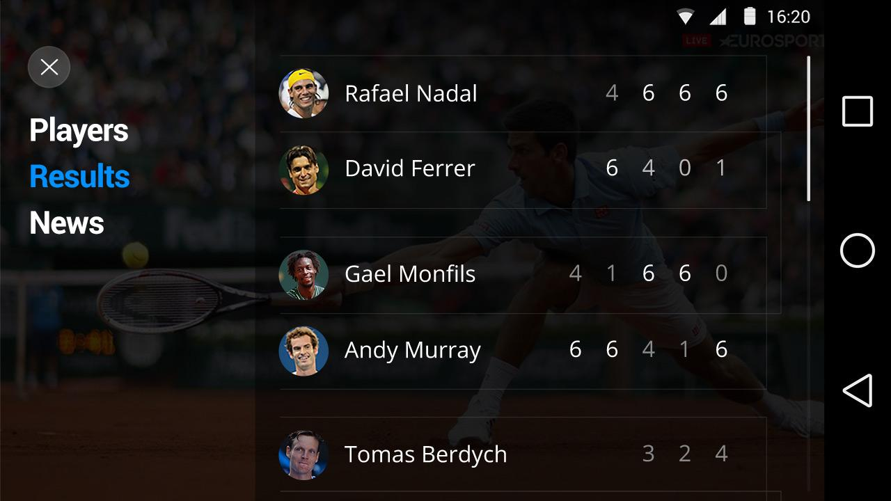 Eurosport Player- screenshot