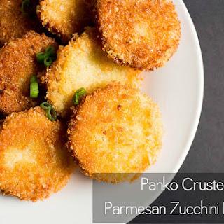 Panko Crusted Parmesan Zucchini Rounds