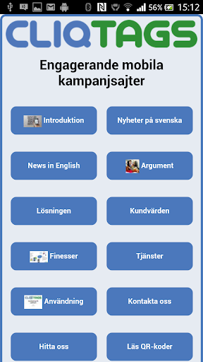 CliqTags Info Swedish
