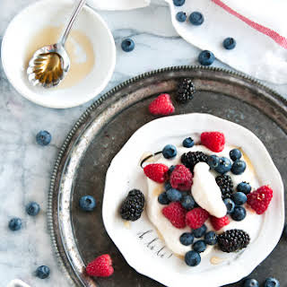 Summer Berries with Limoncello Vanilla Cream.