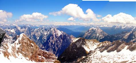 Photo: Panorama view of the mountain range