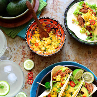 Cajun Spiced Pulled Pork Tacos with Pineapple and Mango Salsa Recipe
