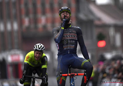 Guillaume Van Keirsbulck était aux anges après sa victoire sur le Grand Prix Samyn