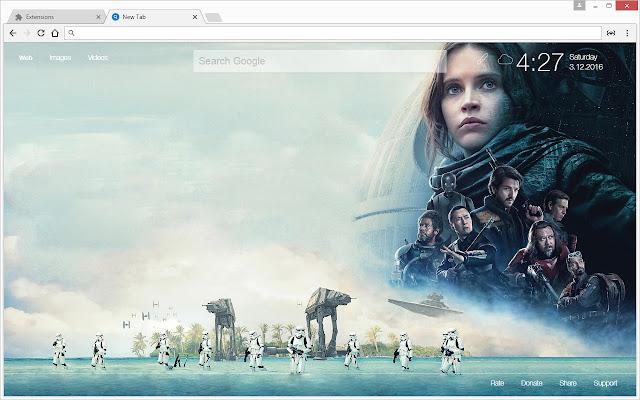 Star Wars Rogue One Wallpaper: Star Wars 'Rogue One' HD Wallpapers New Tab