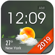 Home screen clock and weather,world weather radar