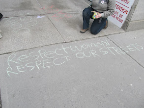 Photo: Hollaback Ottawa chalk walk on 4.8.13 in Canada
