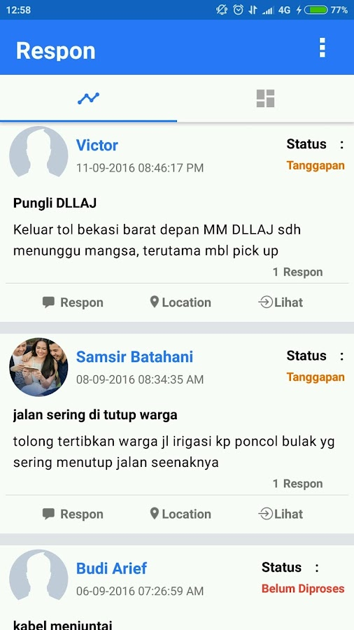 Respon- screenshot