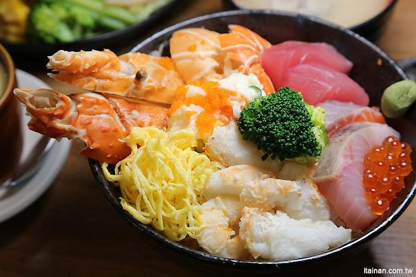 台南日式料理|平價日式料理~小椿食堂:超浮誇!快要滿出來的龍蝦海景丼定食!每天限量好殘酷!