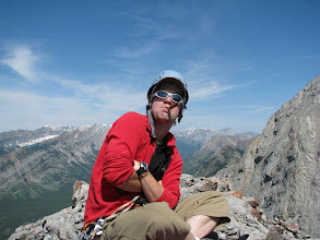 Photo: A cigar calms your nerves down before you climb a steep wall on a sketchy rock with a 700 m drop below you.