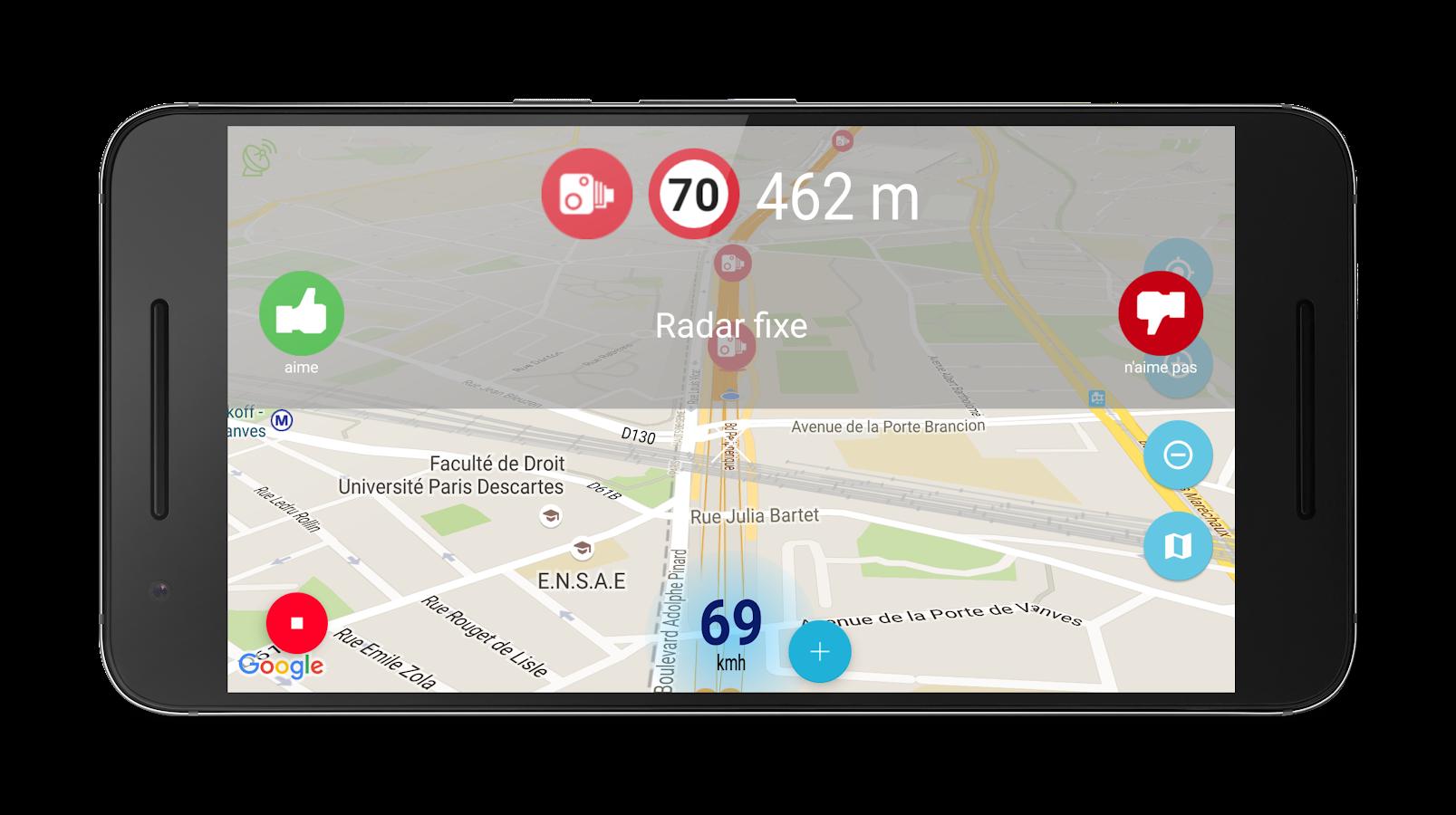 d tecteur de radar gratuit applications android sur google play. Black Bedroom Furniture Sets. Home Design Ideas