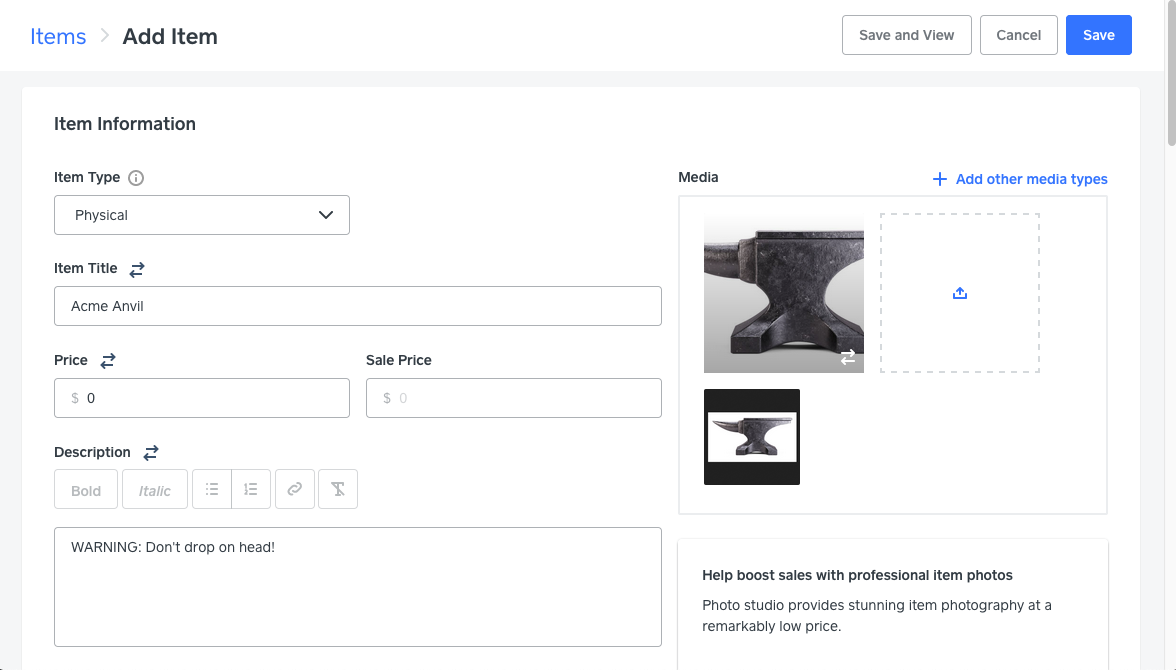Screenshot instructions on how to set up Square Online store