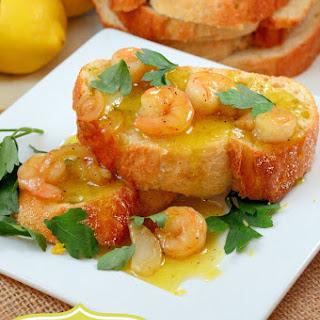 Limoncello Shrimp Crostini.