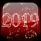 Neujahr Feuerwerk Live-Hintergrund 2019 icon