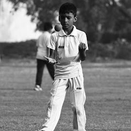 spinning the ball by Venkat Krish - Sports & Fitness Cricket ( #spin, #sports, #cricket, #ball, #boy )