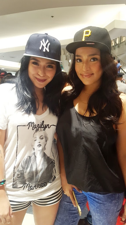 CELEBRITIES JOYCE PRING AND ERIKA PADILLA WITH THEIR NEW ERA CAPS