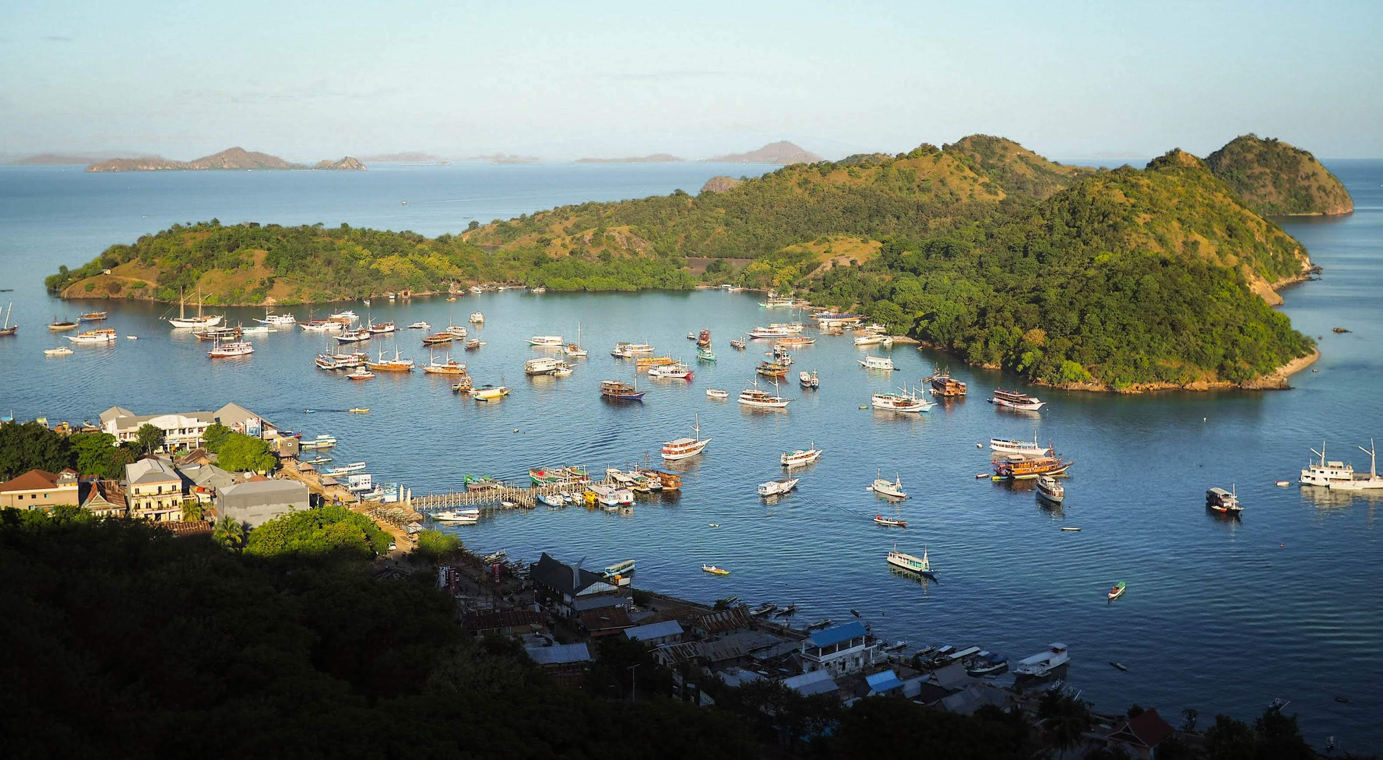 View from Ciao Hostel, Labuan Bajo
