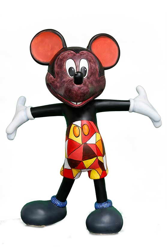 Colbert Mashile used pattern and colour to 'Africanise' his Mickey statue.