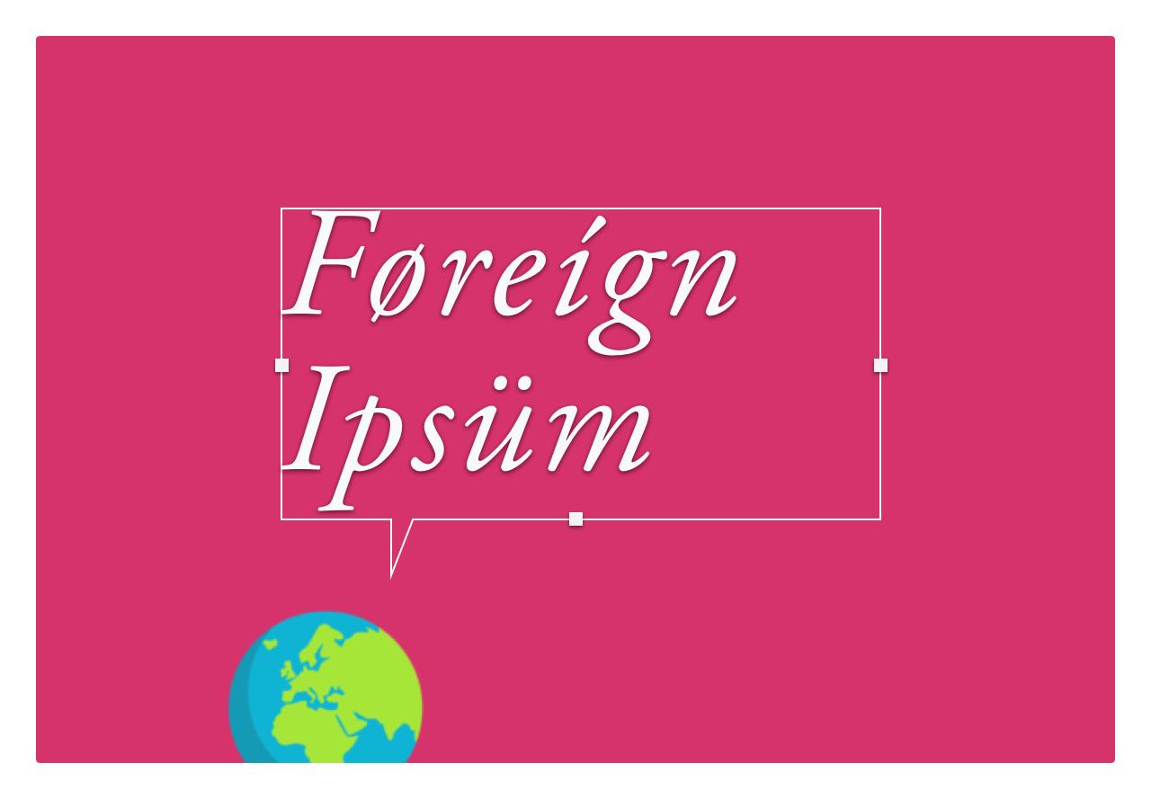 Foreign Ipsum Image