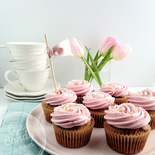 Truly Healthy Vanilla Raspberry Cupcakes Without Toxic Dye (dairy-free, Gluten-free, Low Sugar, Vegan Option).