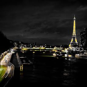 Paris by Night by Dimitri Foucault - Buildings & Architecture Statues & Monuments ( paris, tower, eiffel, night, light, city )
